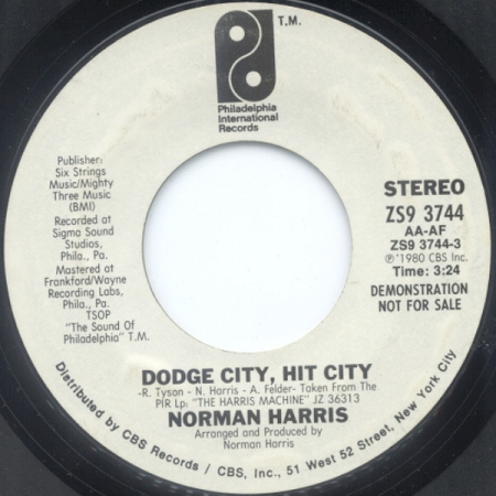 Norman Harris - Dodge City, Hit City / In Search Of Peace Of Mind