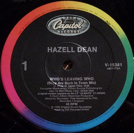 Hazell Dean  Who's Leaving Who
