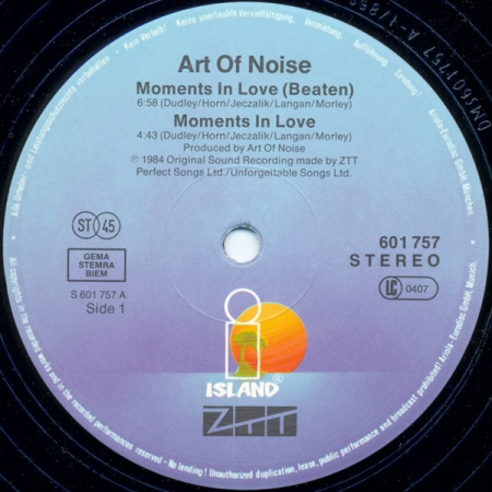 Art Of Noise ‎– Moments In Love