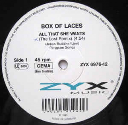 Box Of Laces ‎– All That She Wants