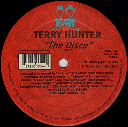 Terry Hunter ‎– The Disco / Sweet Music