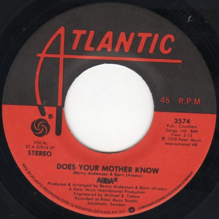 ABBA ‎- Does Your Mother Know / Kisses Of Fire