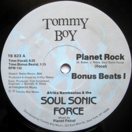 Afrika Bambaataa & The Soul Sonic Force Music – Planet Rock